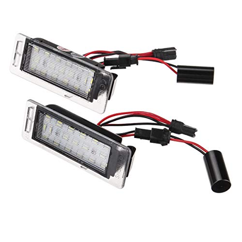 OverTop 1 Paar LED-Kennzeichenbeleuchtung weiß für Opel Insignia Sports Tourer Mokka