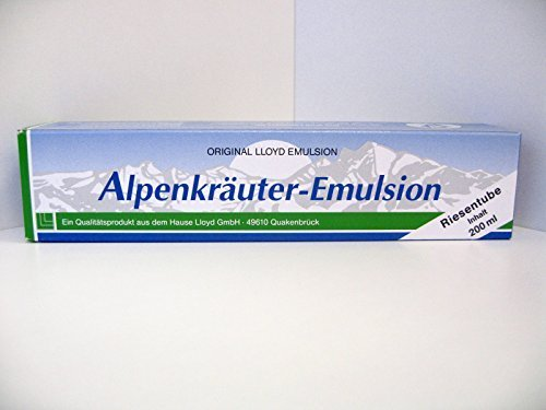 Lloyd 3 Tuben Alpenkräuter Emulsion 200ml - ORIGINAL !