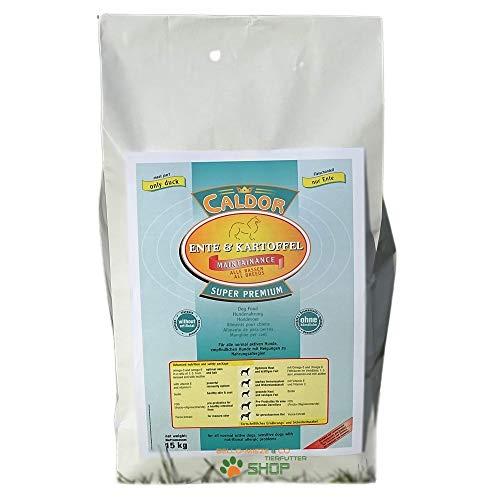 15 kg Caldor Maintenance Ente - Kartoffel | getreidefreies Hunde Trockenfutter | Hundefutter ohne Getreide