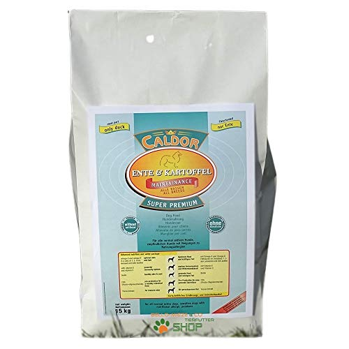15 kg Caldor Maintenance Ente - Kartoffel   getreidefreies Hunde Trockenfutter   Hundefutter ohne Getreide