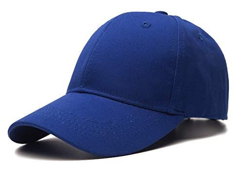 Edoneery Unisex Toddler Kids Plain Cotton Adjustable Low Profile Baseball Cap Hat(A1009) (Dark Blue)