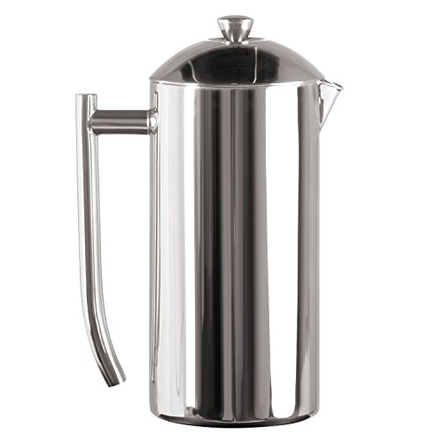 Frieling USA Double Wall Stainless Steel French Press Coffee Maker with Zero Sediment Dual...