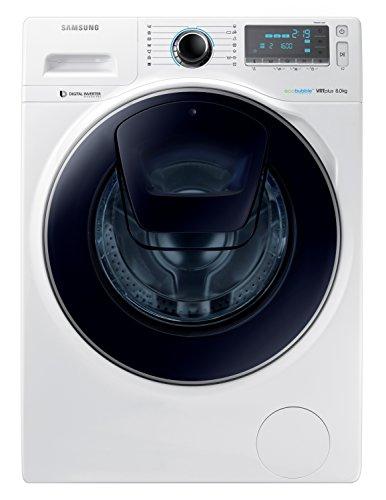 Samsung WW80K7605OW Freestanding Front-load 8kg 1600RPM A+++-30% Bianco washing machine - washing machines (Freestanding, Front-load, Bianco, Left, LED, 63 L)