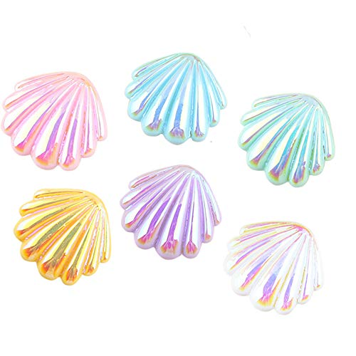 Shell mother of pearl Resin cabochons DAZZLING mix Flatback Charms Hair Clip Hairpin DIY Craft Jewelry Decoration Pieces 21mm 20pcs