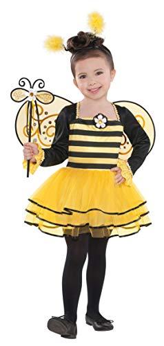 Amscan 997652 Kinderkostüm Ballerina-Biene, gelb/schwarz, 4-6 Jahre
