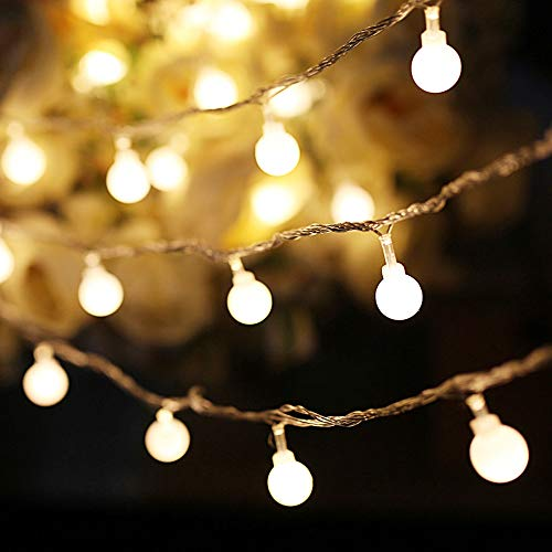 YMING LED Globe String Lights for Bedroom Fairy Light 33ft 100 LED Plug in Window Curtain Wall Decorations Wedding Indoor Outdoor House Yard Garden Home Party Decor Waterproof