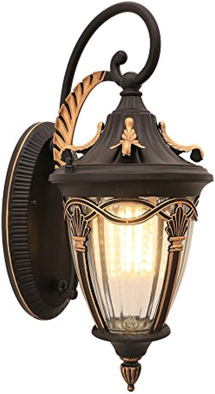 Wasserdichte Wandleuchten im Freien, amerikanische Aluminium LED dekorative hngende Lampe Wandleuchte Nordic Balkon Garten Gang Esstisch Wandlampen (Farbe   C)