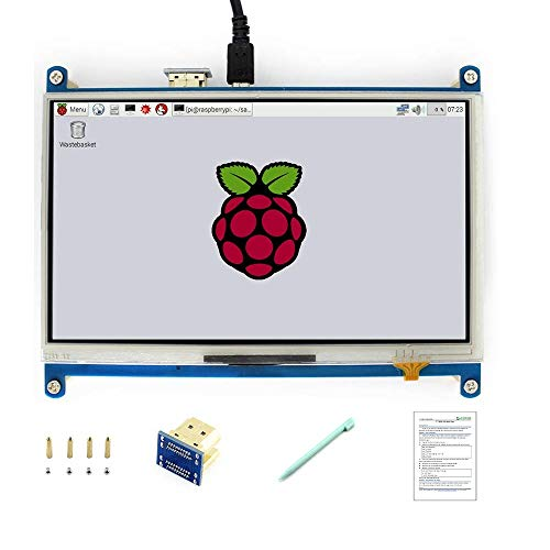 Raspberry Pi 7 Inch LCD Resistive Touch Screen 1024x600 IPS Display HDMI Interface Monitor for Any Revision of Raspberry Pi and PC Drivers Provided