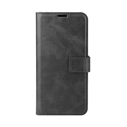 TOPOFU Hülle für Motorola Moto G30/G10, Premium Leder Brieftasche Handytasche Schutzhülle, Folio Flip Wallet Cover Handyhülle mit Kartenfach Standfunktion (Schwarz)