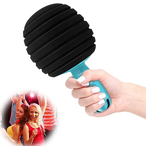 ZealSound Micrófono Karaoke Bluetooth, Microfono Karaoke Inalámbrico Karaoke 4 en 1 Reproductor portátil con Altavoz para Cantar y Grabar, Compatibile con Android/iOS/PC Teléfono Inteligente(Azul)