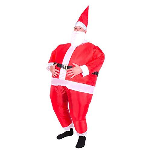 Bodysocks® Aufblasbares Weihnachtsmann Kostüm für Erwachsene