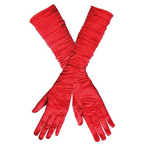 Boland 03142 - Handschuhe Hollywood, Einheitsgröße, rot