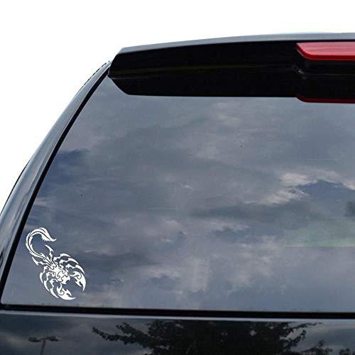 Stukk Stickers Skorpion Grafisches Tribal-Tattoo, Auto-Fenster, Vinyl-Aufkleber, 8,5 x 15,2 cm - weiß