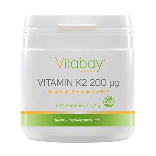 Vitamina K2 200 µg + destrosio - MK-7-99,99% trans-forma - Cis 0% - 100g di polvere vegana