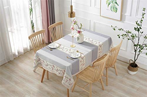 Liveinu Nappe Rectangulaire Tissu de Table Lavable Entretien Facile Résistant Imperméable Anti-tâche Nappe de Table pour Picnic Cuisine Jardin Gris 140x250cm