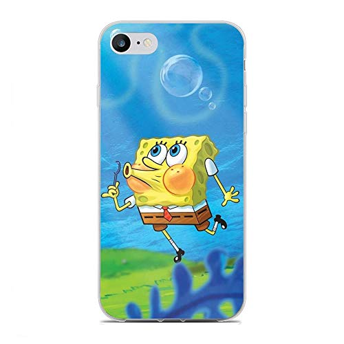 QNNN Transparent Silicone TPU Shockproof Clear Case Compatible with Apple iPhone 6/6s-SpongeBob-SquarePants Patrick-Star 9