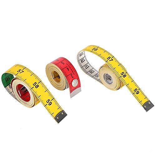 Cinta métrica flexible de 3 piezas, suave y agradable para la piel, cómoda de llevar,