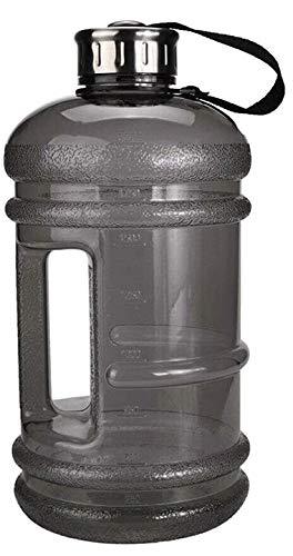 ADEPTNA Botella de agua jumbo de 2,2 litros para deportes y gimnasio, extremadamente duradera, sin BPA, ideal para gimnasio, dieta, culturismo, deportes al aire libre, senderismo y oficina