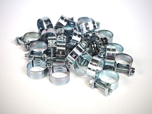 Sanfor 75049 kabelbinder, metaal, 16-18 mm, voor butaangas, verzilverd, 100 stuks