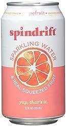 Spindrift Sparkling Water, Grapefruit, 12 fl oz
