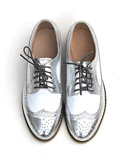 Top 10 best selling list for perforated leather flat oxford shoes silver