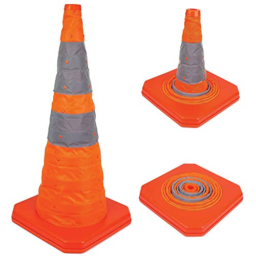 "Troy Safety 28"" Collapsible Traffic Emergency Cone (10 Packs)"