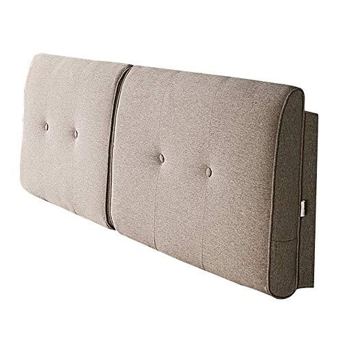 HAIPENG Rückenlehne Bett Kissen Rückenkissen Betten Polster Gepolstert Kopfteil Weich Leinen Lesen Unterstützung Entfernbar Waschbar, 5 Farben (Farbe : C, größe : 90x58cm)