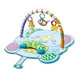 VTech - Mantita multijuegos 3 en 1, Manta de Actividades y Alfombra de Gimnasio para Bebes +3 Meses, Diferentes Formas de Juego, Incluye un cojín y Tres muñecos, Multicolor, versión ESP