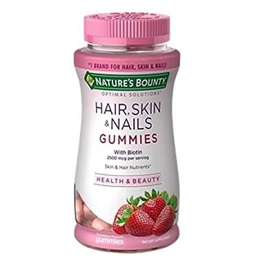 Nature's Bounty Vitamin Biotin Optimal Solutions Hair, Skin and Nails Gummies