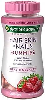 Nature's Brand Bounty Optimal Solutions Hair Skin Nails Gummies, 80 ct