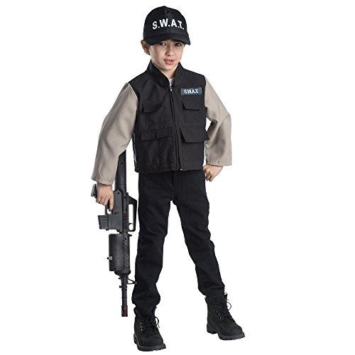 Dress Up America jongen helden kind SWAT team rollenspel set kostuum leeftijd 3-6