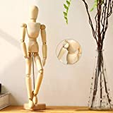 WELL MADE-made of seasoned hardwood and comes with a stand,articulated proportional sized,Holds pose well once locked into position. PORTABLE-very light,this Mannequin easily to carry around with you anywhere from the classroom to the studio. WAX FIN...