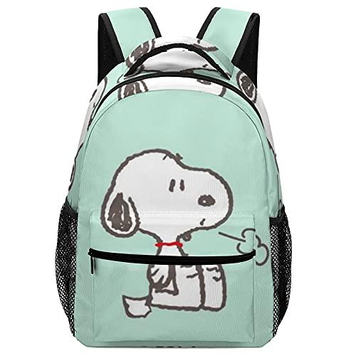 Mochila de dibujos animados Snoopy para niños, mochilas de alta capacidad para estudiantes de primaria y secundaria, ultraligeras y con múltiples compartimentos