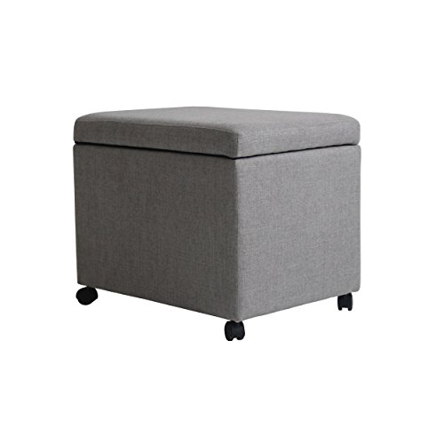 Christopher Knight Home Mateo Traditional Home Office Fabric File Storage Ottoman, Gray