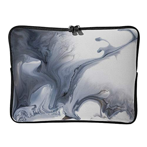 5 Sizes Marble Texture Ink Laptop Bags Classic Lightweight - Modern Style Tablet Protector Suitable for Indoor White 10 Zoll
