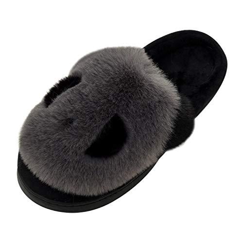 Panda Zapatillas de Estar por Casa Mujer Invierno Zapatos 40/41 EU (Tamaño de Etiqueta...