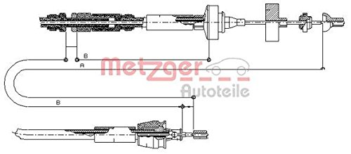 Metzger 10.2962 COFLE Seilzug, Kupplungsbetätigung