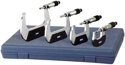 Fowler Full Warranty Economy Outside Inch Micrometer Set, 52-229-214-0, 0-4
