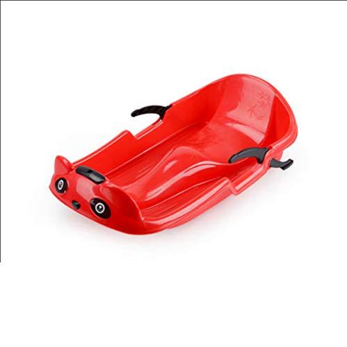 ZKZK Kunststoff Snowboard Snow Scooter Outdoor Schlitten Erwachsene und Kinder Schlitten Board Schnelle Schneeräummaschine (rot) 70cm