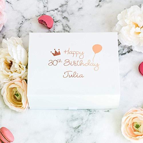 Personalisierte Geburtstagsgeschenkbox mit Name und Alter | Personalisierte Geschenkbox