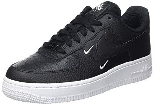 Nike WMNS Air Force 1 '07 Ess, Chaussure de Basketball Femme, Black Black Black MTLC Silver White, 39 EU