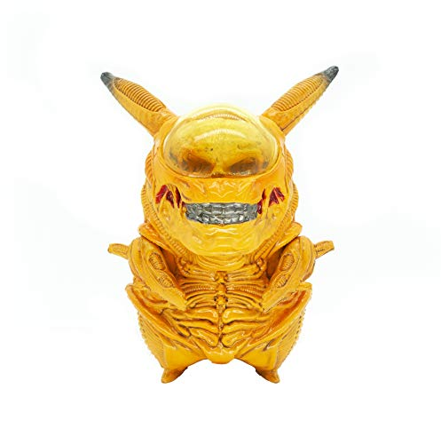 Alien Action Figures Pikachu Cosplay PVC Figure Collectible Model Toy (Gold)
