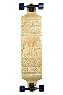 "Quest Skateboards California Native Spirit Skateboard, 41"", Beige (B01H8C9ML0) 