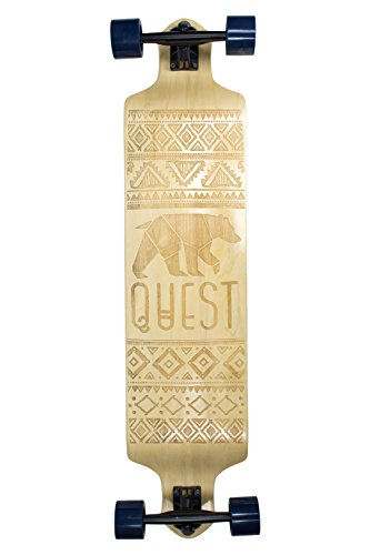 "Quest Skateboards California Native Spirit Skateboard,Longboard , 41"", Natural"