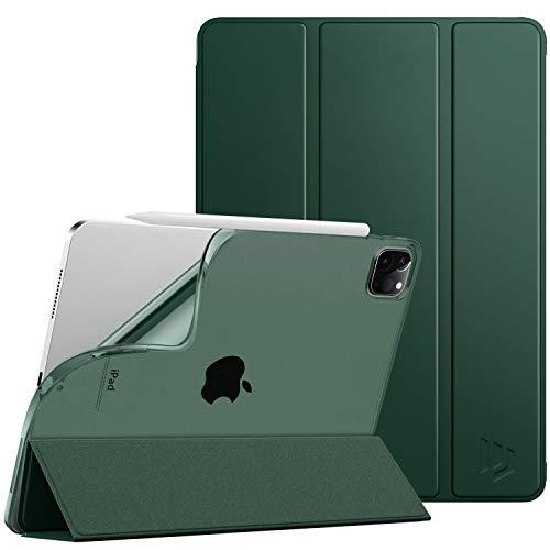 iPad Pro 11 ケース Dadanism iPad Pro 11 2020 NEW モデル タブレットケース 全面保護型 半透明 TPU ソフト 三つ折りスタンド 薄型 オートスリープ機能 スマートカバー キズ防止開閉式 衝撃吸収 Night Gr
