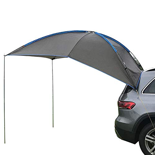 Portable Waterproof Camping Tourist Tent, Outdoor Picnic Barbecue Anti UV Rain Proof, Sun Shade Awning Car Tents for Camping Outdoor Travel ANJT (Color : Grey)