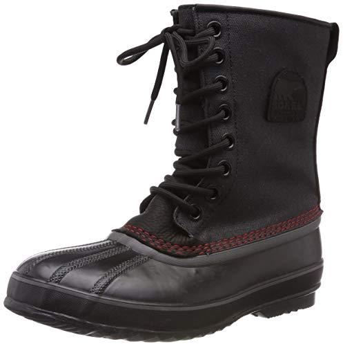 Sorel Men's 1964 Premium T CVS Snow Boot, Black, Sail Red, 9 D US