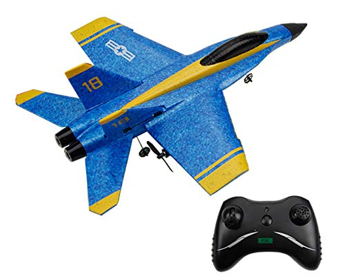 Mini RC F/A-18C Hornet Blue Angels Model Toy Drone F-18 Remote Control RC Plane RTF Kids F18 Toy Jet Fighter Model Beginner