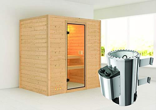 Ronja - Karibu Sauna Plug & Play inkl. 3,6 kW-Ofen - ohne Dachkranz -