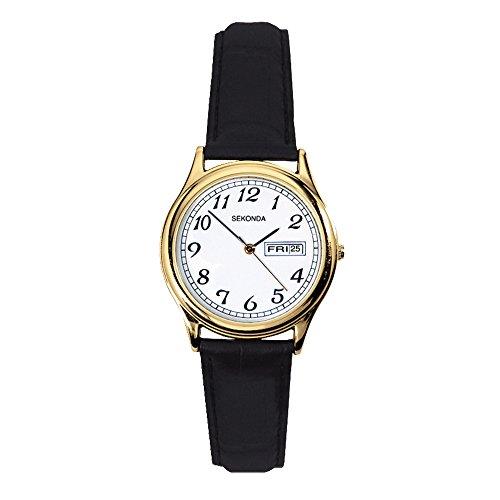 SEKONDA 4925.27 - Reloj de Cuarzo para Mujeres, Color Negro